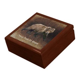 Kodiakはカリブーの毛皮に関係します ギフトボックス