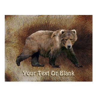 Kodiakはカリブー(トナカイ)の毛皮に関係します ポストカード