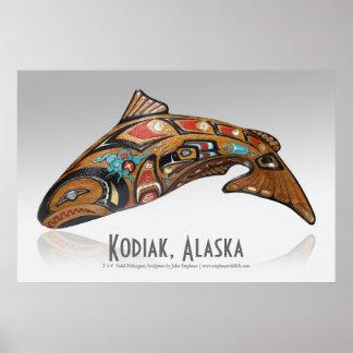 Kodiak、アラスカポスター ポスター