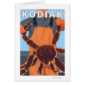 Kodiak、AlaskaAlaskanのタラバガニ カード