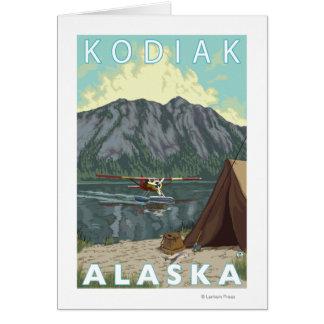 Kodiak、AlaskaBushの平らな魚釣り カード