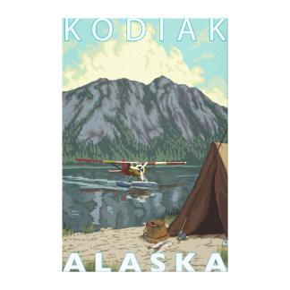Kodiak、AlaskaBushの平らな魚釣り キャンバスプリント