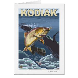 Kodiak、AlaskaCutthroatのマスの横断面 カード