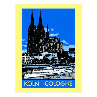 Koelnケルンのレトロのヴィンテージのスタイル旅行広告 ポストカード