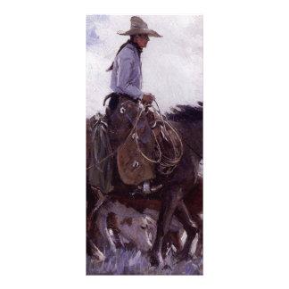 Koerner著牛の彼の群れを持つヴィンテージのカウボーイ ラックカード
