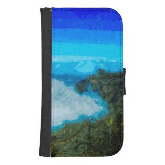 Koke'eの抽象芸術からのカウアイ島Na Paliの海岸 ウォレットケース