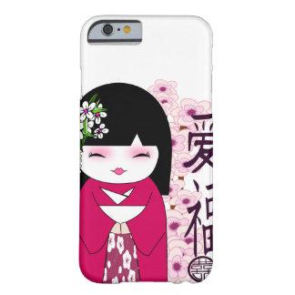 Kokeshiのこけし、日本のな人形 Barely There iPhone 6 ケース