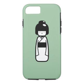 Kokeshiの人形のピクトグラムのiPhone 7の場合 iPhone 8/7ケース