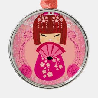 Kokeshiの人形の装飾 メタルオーナメント