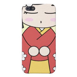 Kokeshiの人形のiphone 4ケース iPhone 5 case