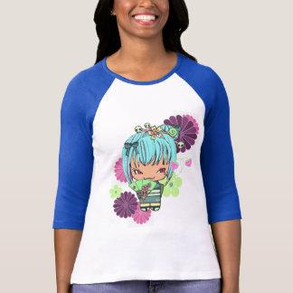 Kokeshiの人形のMiaoのワイシャツ Tシャツ