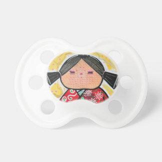 Kokeshiの人形 おしゃぶり