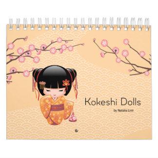 Kokeshiの人形 カレンダー