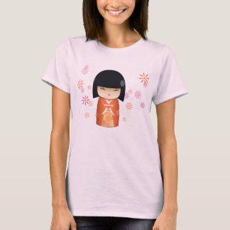 Kokeshiの人形- Akemi Tシャツ