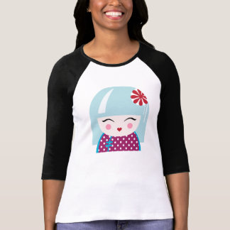 Kokeshiの女の子のTシャツ Tシャツ