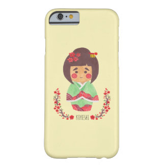 Kokeshiの女の子 Barely There iPhone 6 ケース