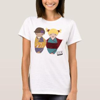 Kokeshiの姉妹の上 Tシャツ