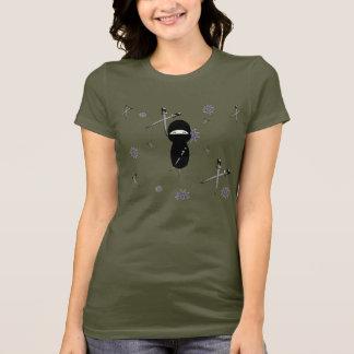 Kokeshiの忍者のティー Tシャツ
