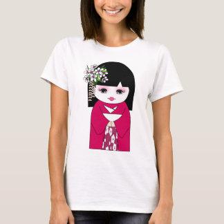 Kokeshiの日本のな人形、こけし Tシャツ