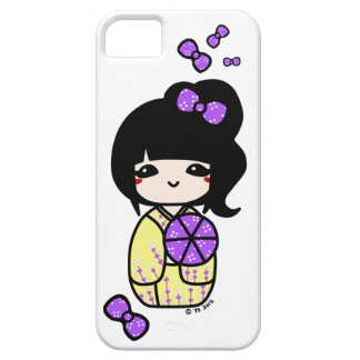 Kokeshiの電話箱(紫色か黄色) iPhone SE/5/5s ケース