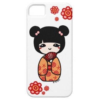 Kokeshiの電話箱(赤いですかオレンジ) iPhone SE/5/5s ケース