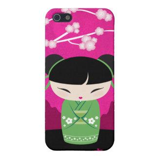 KokeshiのiPhoneの場合-幸福 iPhone 5 カバー