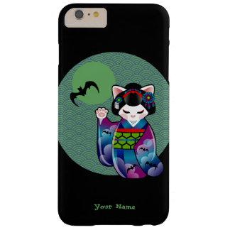 Kokeshi Maneki Nekoの日本ので幸運な猫ハロウィン Barely There iPhone 6 Plus ケース