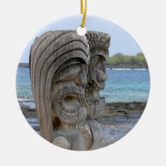 Kona、ハワイ-オーナメントのTikiの保護者 セラミックオーナメント