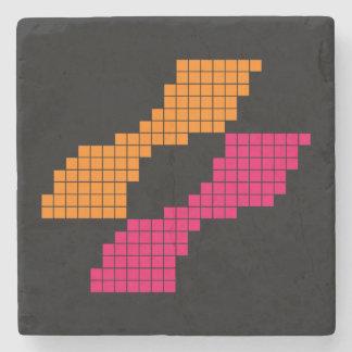 Konamiピクセルロゴのレトロのコースター ストーンコースター
