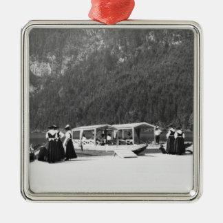 Konigssee、c.1910のボート メタルオーナメント