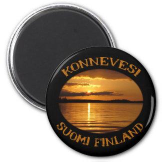 Konnevesiの日没の磁石 マグネット