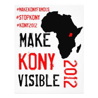 Kony 2012のフライヤ-行為のキット チラシ