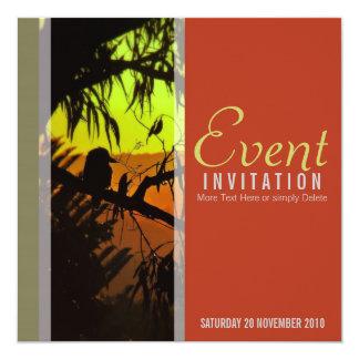 Kookaburraのシルエットのすべての行事の招待状 カード