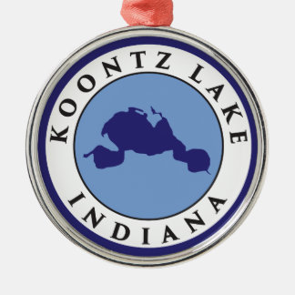 Koontz湖、インディアナ メタルオーナメント