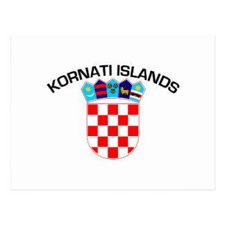 Kornatiの島、クロアチア ポストカード