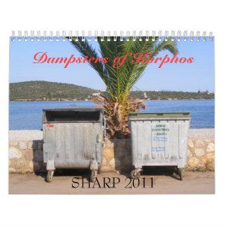 Korphosのシャープ2011年のダンプスター カレンダー