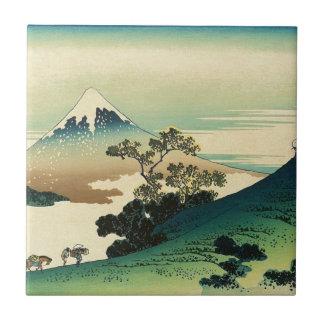 Koshu Inume Toge - Katsushika Hokusai Ukiyo-eの芸術 タイル