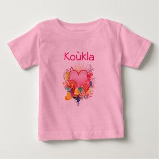 Kouklaのレトロハートデザイン ベビーTシャツ