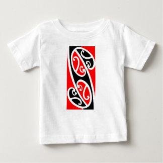 Kowhaiwhaiマオリのパターン2 ベビーTシャツ