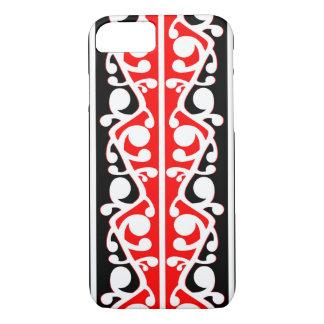 Kowhaiwhaiマオリの伝統的なパターン iPhone 8/7ケース