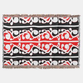 Kowhaiwhaiマオリの種族パターン スローブランケット
