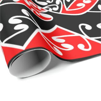 Kowhaiwhai伝統的なマオリのKoruのパターン ラッピングペーパー