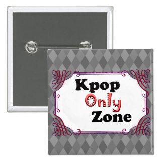 Kpopの地帯だけ 5.1cm 正方形バッジ