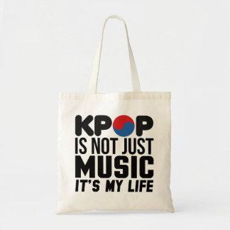 Kpopは私の生命音楽スローガンのグラフィックです トートバッグ