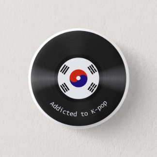 Kpopボタンに熱中される 3.2cm 丸型バッジ