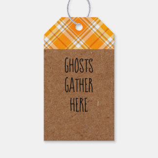 Kraft Ghosts Gather Here Halloween Party Gift Tags ギフトタグ