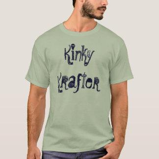 Krafterのねじれた男性ティー Tシャツ