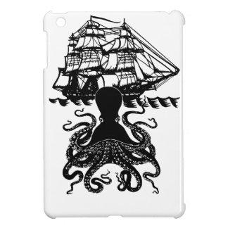 Krakenの攻撃のsteampunkの海賊iPadの小型場合 iPad Miniケース