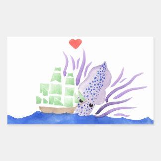 Krakenを抱きしめます 長方形シール