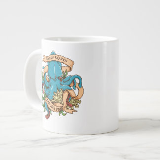 Krakenモンスターのタコの上昇 ジャンボコーヒーマグカップ